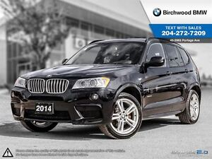2014 BMW X3 Xdrive35i Navigation, M-Sport Package!