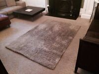 Rug high pile £10!! and Chair ADDE White £5!! From IKEA