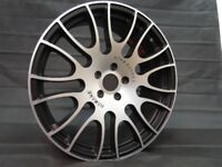 Set of 4 x 20 inch Staggered Alloy Wheels Rims Black Silver fits Jeep, Subaru, Lexus, Nissan etc
