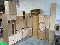 Kitchen Units Job Lot - Sheraton Kitchens Maple Carcases with Maple Doors