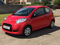 CITROEN C1 3 DOOR RED LOW WARRANTED MILEAGE 8900 ONE OWNER LOW TAX £20 LOW INSURANCE PX WELCOME