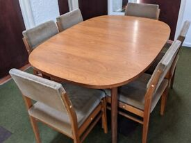 G-Plan extending table and chairs