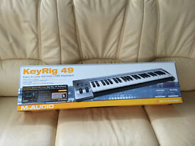 New - M audio keyrig 49, easy to use 49 note USB keyboard