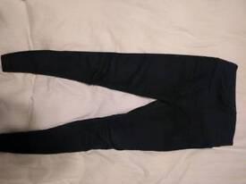 Jojo Maman Bebe navy skinny maternity jeans overbump (UK 10)