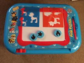 Paw patrol drawing table with stencils