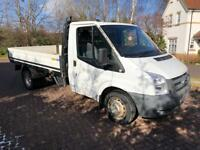 Mk7 Ford transit T350 2.4 tdci 12ft drop side pick up truck twin wheel 58reg 108k