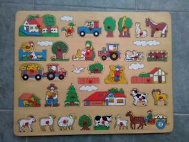Large wooden jigsaw puzzle