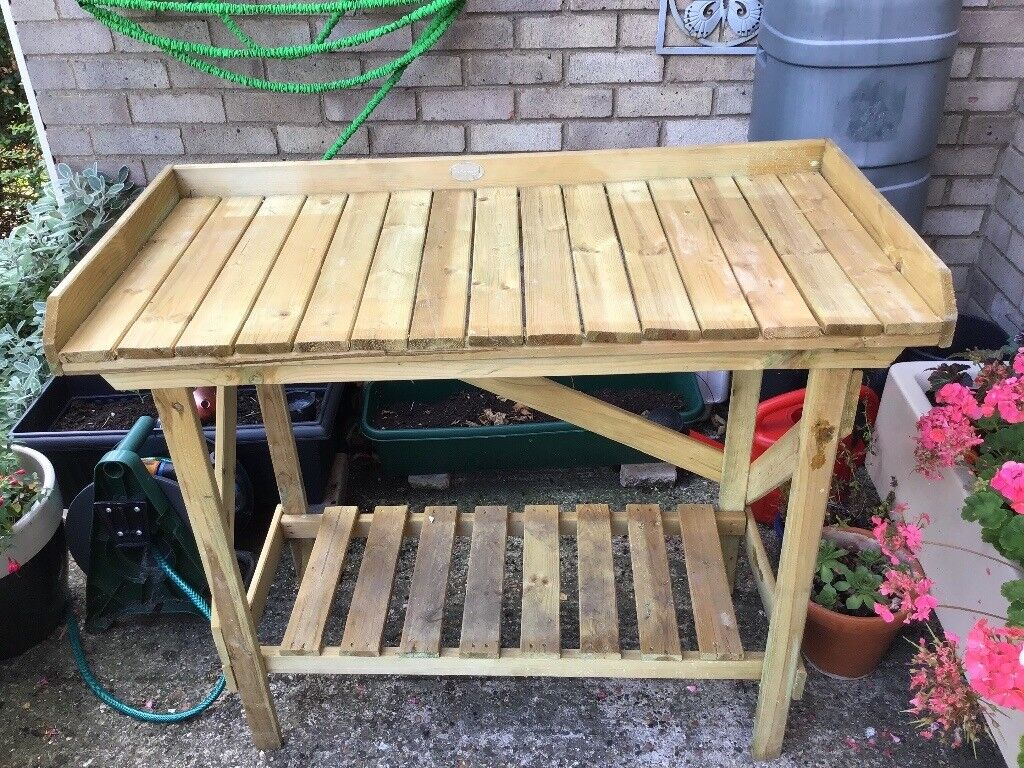 Wooden Potting Table