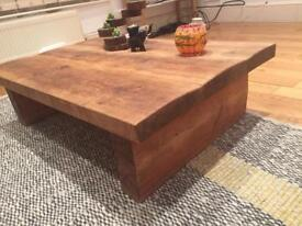 Solid Raw Wood Coffee Table