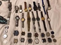 Joblot of mens vintage and modern watches
