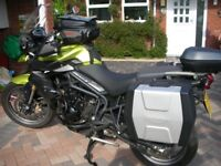 Triumph Tiger 800, many extras, excellent condition.