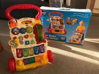 VTech First Steps Baby Walker and original box