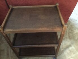 Retro Oak Tea Trolley