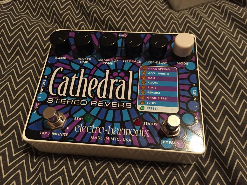 EHX Cathedral Reverb Electric Guitar Effects Pedal Electro-Harmonix Boss