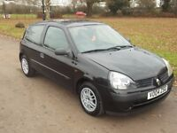 2004 RENAULT CLIO 1.2, MOT DECEMBER 2017, ONLY 80,000 MILES, ONLY £495
