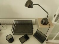 OFFICE LAMP WITH DESK ACCESSORIES