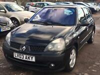 Renault Clio 1.4 2003 + 12 MONTHS MOT + LOW 52,000 MILES + DRIVES SUPERB