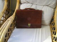 Tan Leather Handmade Briefcase