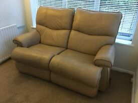 Lazy-Boy Leather Sofa - 2-seat recliner