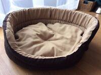 Free - Dog bed- Beige & Brown - Worn - 24in