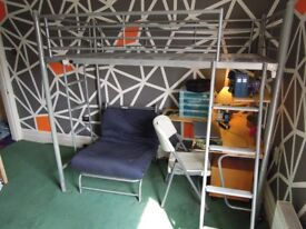 Metal Bunk Bed / Desk / fold out bed