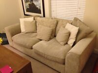 Pillow Back Fabric Sofa 3 Seater from Harveys