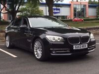 2013 BMW 730LD * BLACK * RED LEATHER * MASSIVE SPEC * FULL BMW HISTORY * PART EX * FINANCE *DELIVERY