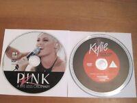 music dvd's x2 kylie & pink