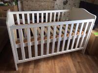 white junior cot bed