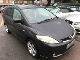 2005/55 MAZDA 5 2.0 SPORT 5 DR GREY,7 SEATER FAMILY CAR WITH ,SIDE SLIDING DOORS,GOOD CONDITION