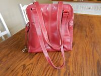 Ladies Red leather Handbag by easton