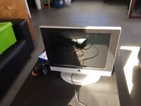 "20"" TFT TV, plus DVD player, remotes, indoor aerial and some DVDs"