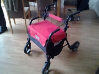 Mobility ROLLATOR. Robust walking shopping aid.
