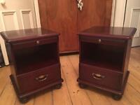 Stag minstrel type bedside drawers