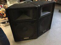 2x Yamaha S115 PA Speakers