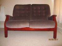 Cintique sofa and armchair for sale.