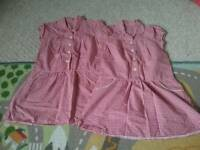 Two school gingham summer dresses age 5-6 yrs Never worn