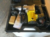 Hammer drill motor works but chuck doesn't go round comes with Carry case spare or repair vgc