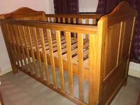 Cot solid wood