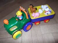 Hamleys tractor and trailer with animals with sounds