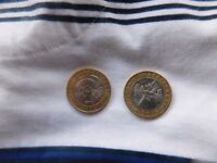 2 COLLECTABLE £2 SHAKESPEARE COINS