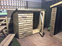 Wooden bike shed