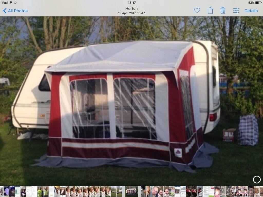 41e731a66e2e07 1999 2000 abbey gts vogue 217 caravan 2 berth with porch awning ...