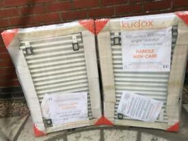 Radiators x2 800mm long 500mml high