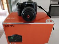 Sony A100 digital camera with 18-70 Zoom & 70-300 Tamron Zoom lense + carry case.