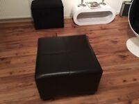 Brown pouffe / foot stool
