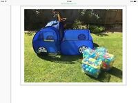 FAB POP UP TENT TRUCK WITH BALL PIT AND HUNDREDS OF BALLS