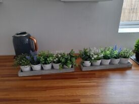 Two sets of Artificial plants