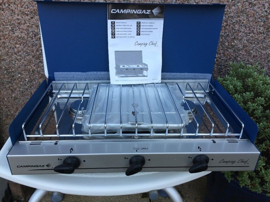 Camping Gaz Camping Chef - Folding Double Burner and Grill   in ...