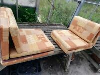 Side dinette bunk bed cushions